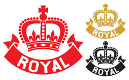 Royal label Stock Images
