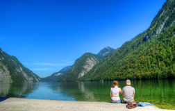 Royal Lake kenigsee, Germany Royalty Free Stock Photography