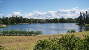 Royal lake. In Saint-Peterburg Royalty Free Stock Photography