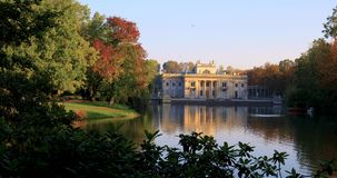 Royal Lazienki Park in Warsaw, Poland - autumn colors – Palace on the Isle