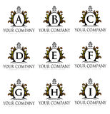 Royal Letters Logo Royalty Free Stock Image