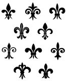 Royal lily. Royal french lily symbols for design and decorate Royalty Free Stock Photos