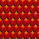 Royal lily pattern. Seamless geometric fleur-de-lis royal lily pattern Stock Images
