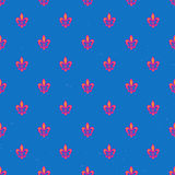 Royal lily pattern. Seamless pattern with royal lily geometric texture Royalty Free Stock Images