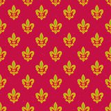 Royal lily pattern. Seamless pattern with royal lily geometric texture Royalty Free Stock Photography