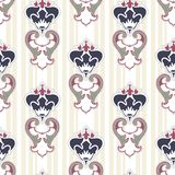 Royal lily. Seamless pattern. Royal lily. Seamless damask pattern for textile, scrapbooking and webdesign Stock Image