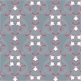 Royal lily. Seamless pattern. Royal lily. Seamless damask pattern for textile, scrapbooking and webdesign Stock Photo