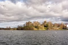 Royal Linlithgow Palace and St. Michael`s Kirk, Linlithgow. Scotland, United Kingdom Royalty Free Stock Image