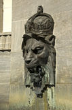 Royal Lion Head on wall. A royal lion head as a wall fountain Royalty Free Stock Image