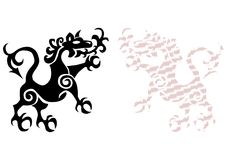 Royal lion tattoo Royalty Free Stock Photos