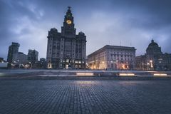 Royal Liver Building in Liverpool. Royal Liver Building in  Liverpool, .North West England, UK stock photography