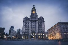 Royal Liver Building in Liverpool. Royal Liver Building in  Liverpool, North West England, UK stock images