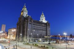 Royal Liver Building in Liverpool. North West England, UK royalty free stock photos