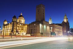 Royal Liver Building in Liverpool. North West England, UK royalty free stock images