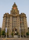 The Royal Liver Building on the Pierhead at Liverpool, UK. Royalty Free Stock Image