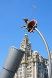 The Royal Liver Building and Telescope, Liverpool. Stock Photo