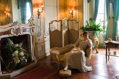 Royal living room scene Stock Images
