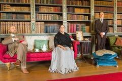 Royal living room scene Stock Photos