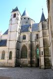 Castle, view on the castle of the city of Chateaudun, France royalty free stock photos