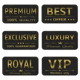 Royal Luxury banners Royalty Free Stock Image