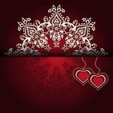 Royal Luxury Valentines Day lace  background Stock Image