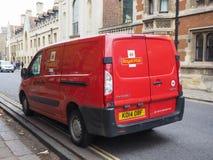 Royal Mail-bestelwagen in Cambridge stock afbeeldingen