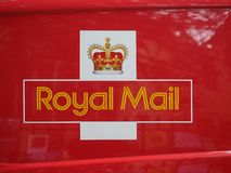 Royal Mail-bestelwagenteken royalty-vrije stock afbeelding