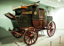 1827 Royal Mail Coach.Museum of Science in London Royalty Free Stock Image