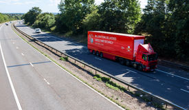 Royal Mail lorry on the motorway Stock Image