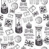 Royal mail pattern Royalty Free Stock Images