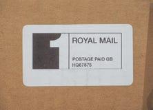 Royal Mail-Porto gezahlt Stockbilder