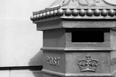 Royal Mail. Post-box - Edinburgh - Scotland - UK Royalty Free Stock Image