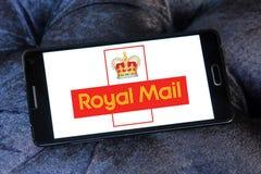 Royal mail postal shipping company logo. Logo of royal mail postal shipping company on samsung mobile on samsung mobile Stock Photography