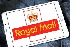 Royal mail postal shipping company logo. Logo of royal mail postal shipping company on samsung tablet Royalty Free Stock Image
