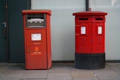 Royal Mail Postbox i London Royaltyfri Bild