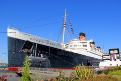 Royal Mail sänder (RMS) Queen Mary Arkivfoto