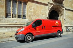 Royal Mail van, Oxford. Royalty Free Stock Photo