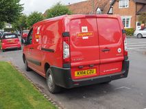 Royal Mail van in Tanworth in Arden Royalty Free Stock Photos