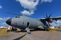 Royal Malaysian Air Force Airbus A400m military transport aircraft on display at Singapore Airshow Stock Image