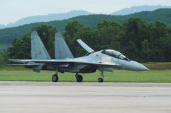 Royal Malaysian Air force Jet, Sukhoi Su-30MKM. Royalty Free Stock Photo