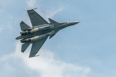 Royal Malaysian Airforce Su-30 at the Singapore Airshow 2016 Stock Photography