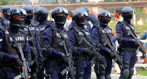 Royal Malaysian Police (Special Force) royalty free stock image