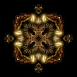 Royal Maltese cross. Abstract fractal image resembling a royal Maltese cross Royalty Free Stock Photography