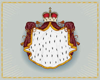 Royal mantle. Isolated on neutral background Royalty Free Stock Photography