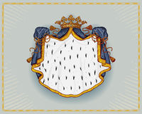 Royal mantle. Isolated on neutral background Royalty Free Stock Images