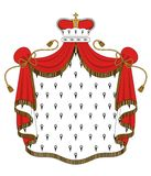 Royal mantle. With crown for heraldry design Stock Image