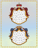 Royal mantles. Isolated on light background Stock Images