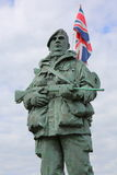 Royal Marine Memorial 'The Yomper' Stock Photography