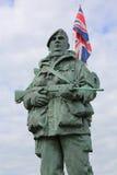 Royal Marine Memorial 'The Yomper' Stock Photography