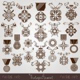 Royal medal vintage set Stock Image